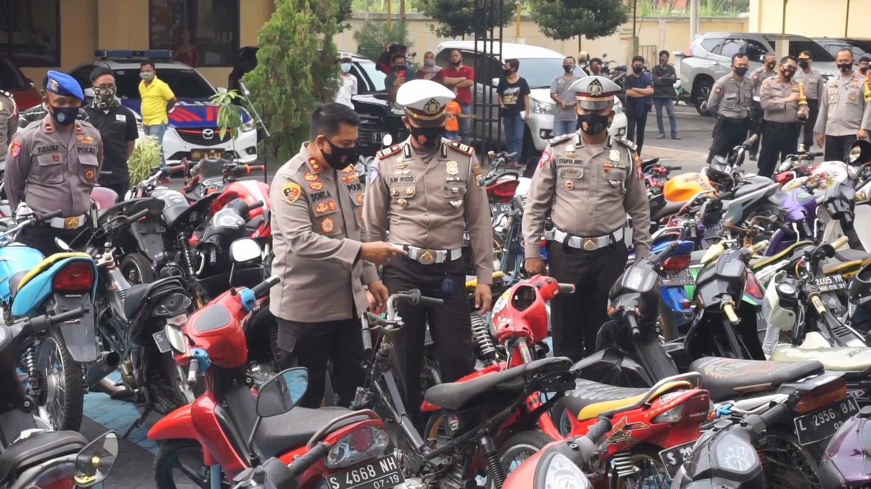 Polisi Sita Ratusan Ranmor, di antaranya Diduga Hasil Kejahatan