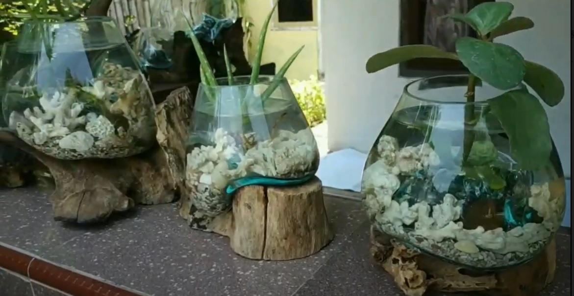 Kehilangan Pekerjaan, Sopir Wisata Banting Setir Menjadi Pengrajin Aquarium Unik