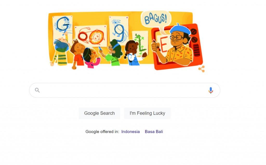Google Doodle Hari Ini Tampilkan Tino Sidin, Siapa Dia? Kita Cari Tahu, Yuk!