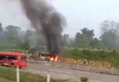 Maut di Tol Ngawi-Kertosono, 3 Penumpang Rombongan Takziah Tewas Terpanggang