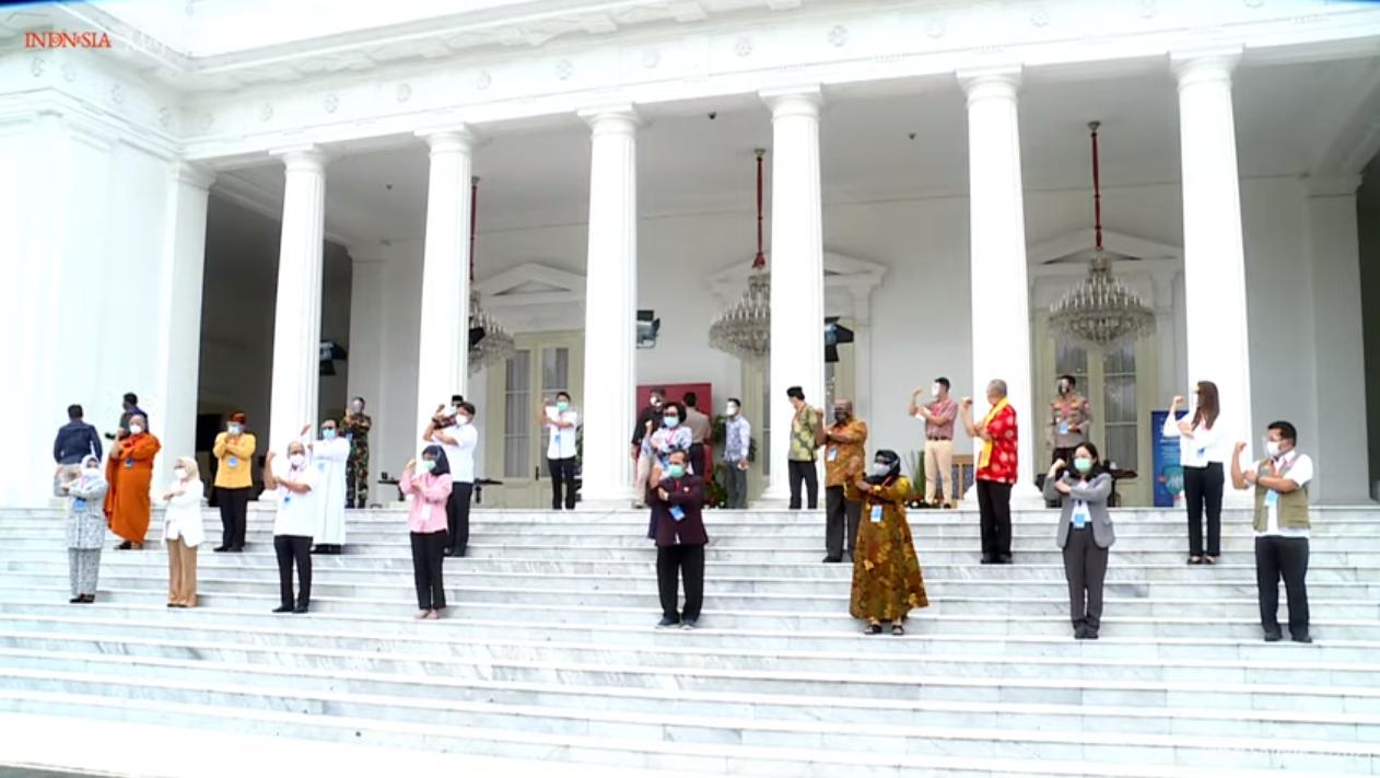 Ini Daftar Orang yang Disuntik Vaksin Bersama Jokowi di Istana Negara