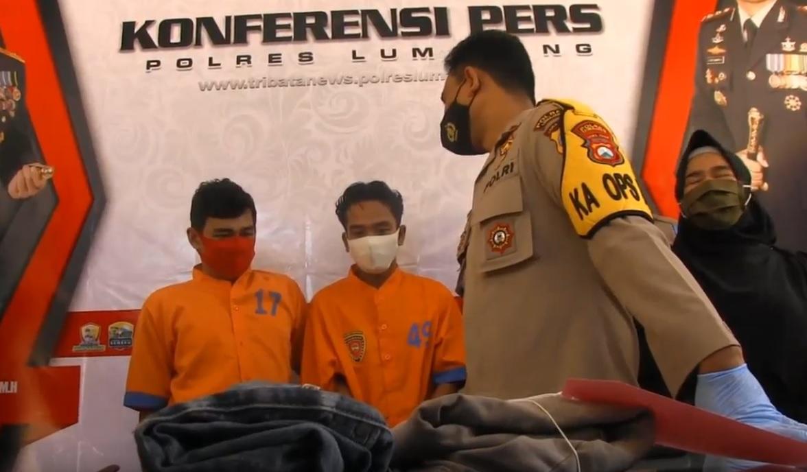 Satu dari dua pelaku perampasan handphone milik anak-anak di Lumajang  ditembak petugas. (metrotv)