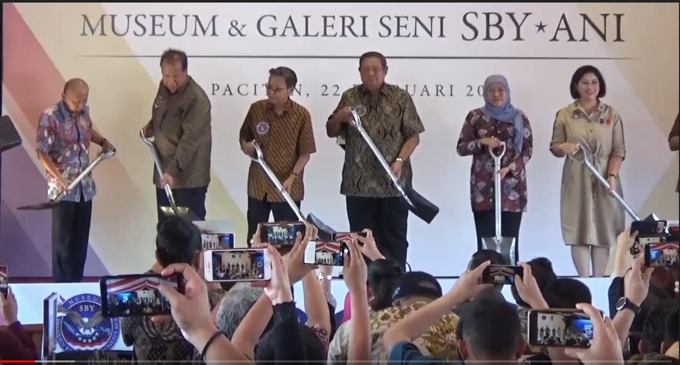 Awal pembangunan museum Sby-Ani di Pacitan pada 2020 lalu (Foto / Doc Metro TV)