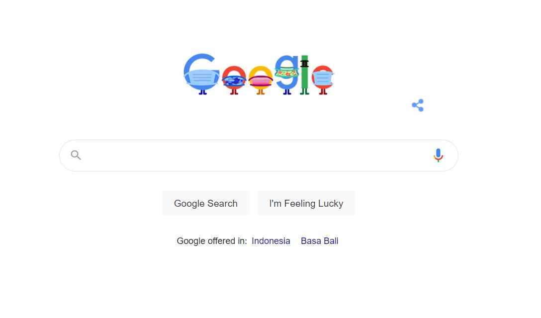 Google doodle hari ini meningatkan pentingnya penggunaan masker di tengah pandemi covid-19
