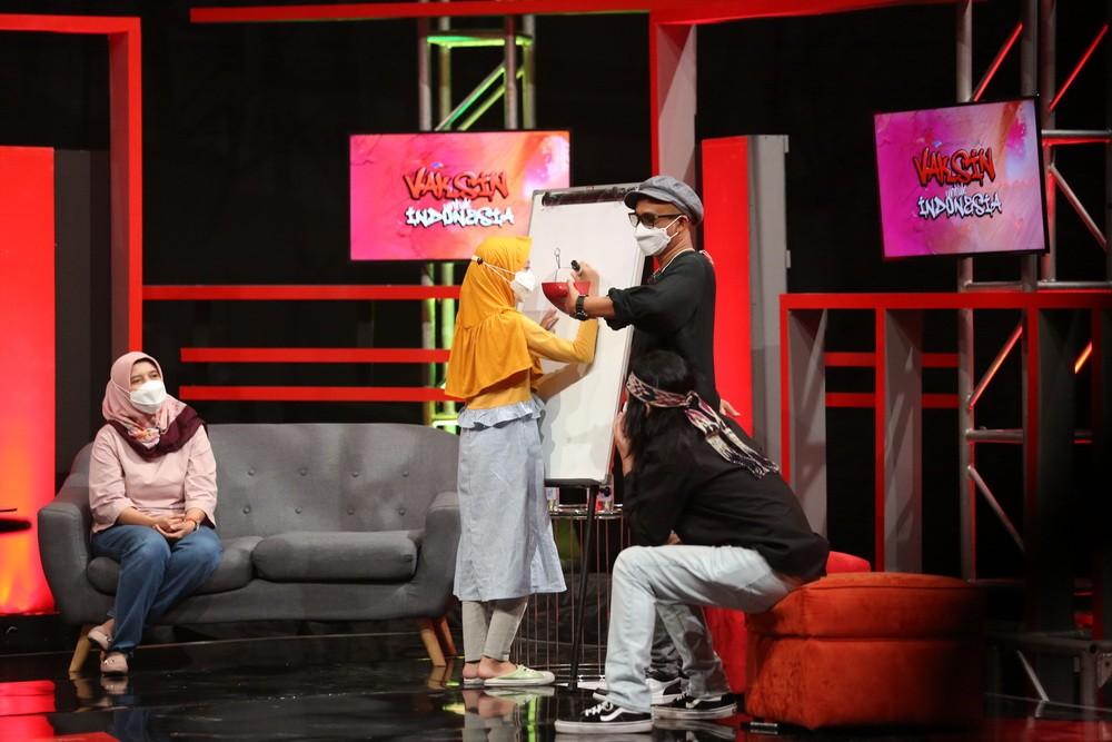 Slank bermain bersama Aisyah (Foto: metro tv)