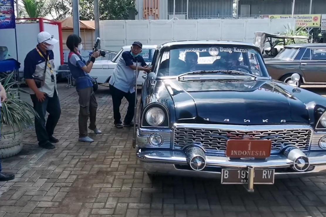 Mobil kuno yang digunakan Presiden RI pertama Ir Soekarno. (MI)