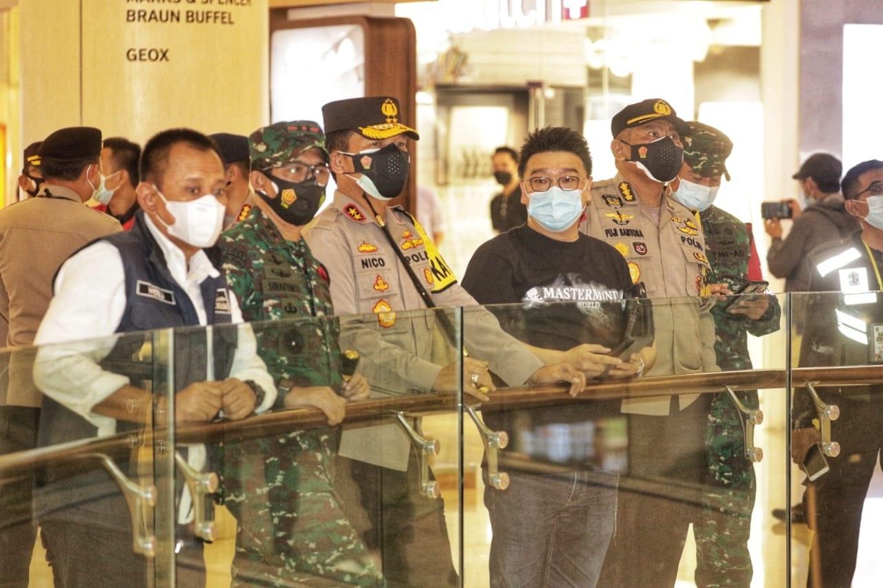 Forkopimda Jatim mengecek penerapan protokol kesehatan di Tunjungan Plaza Surabaya