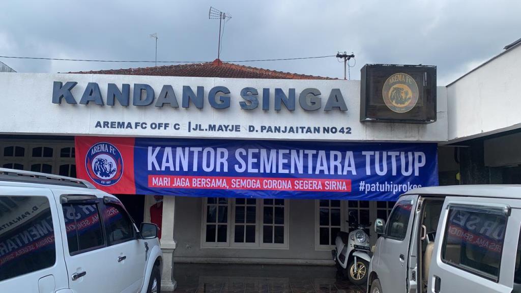 antor Arema FC atau Kandang Singa di Jalan Mayjend Pandjaitan, Kota Malang, Jawa Timur. (Foto: Dok. Arema
