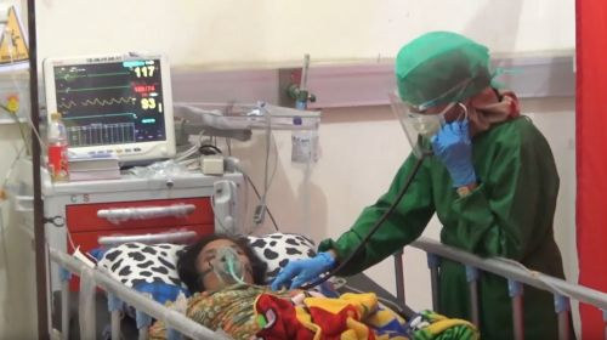 Salah satu pasien covid-19 di RSUD dr Abdurrahem. (metrotv)