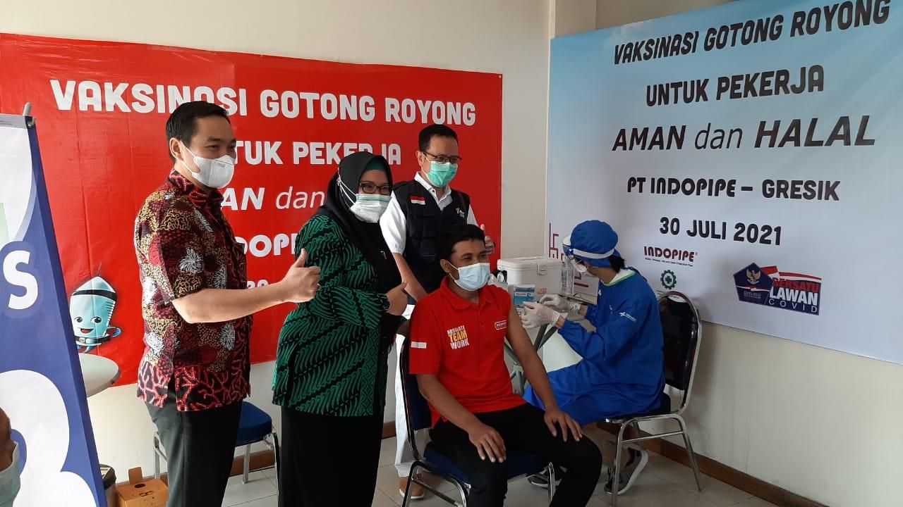 Rebutan, Baru 5 Perusahaan di Gresik Jalankan Vaksin Gotong Royong