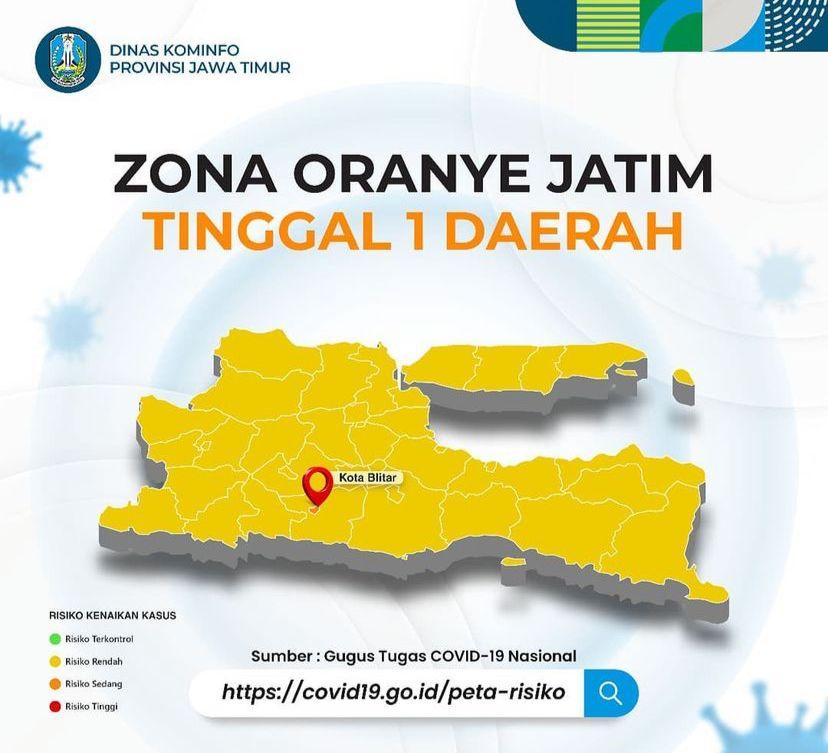 Alhamdulillah, 97,37% Wilayah di Jatim Masuk Zona Kuning