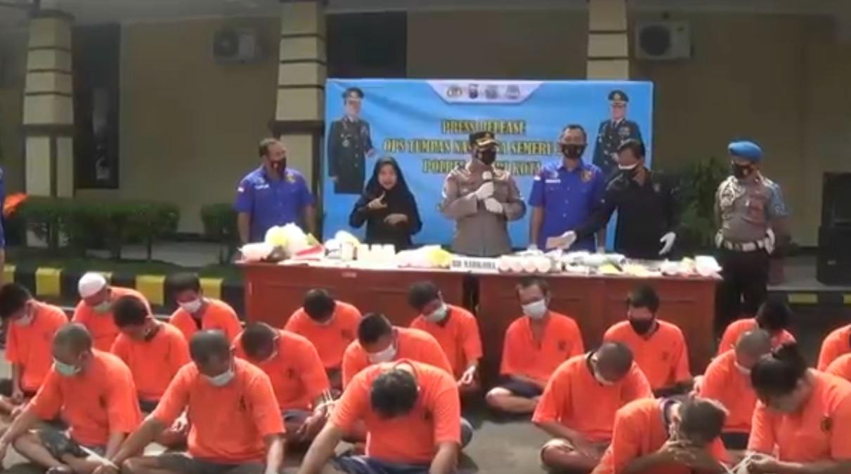 20 Budak Narkoba di Kediri Digulung Polisi