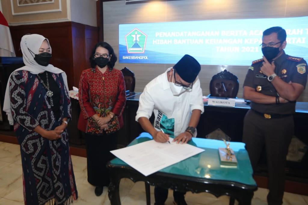 Parpol di Kota Malang Diguyur Dana Hibah Rp 3,2 Miliar