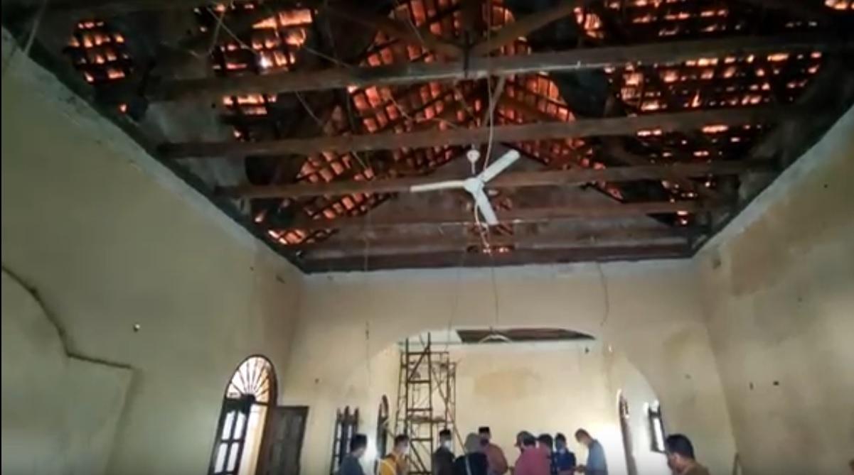 Atap Jebol, Kondisi Gedung Juang Sidoarjo Mengenaskan