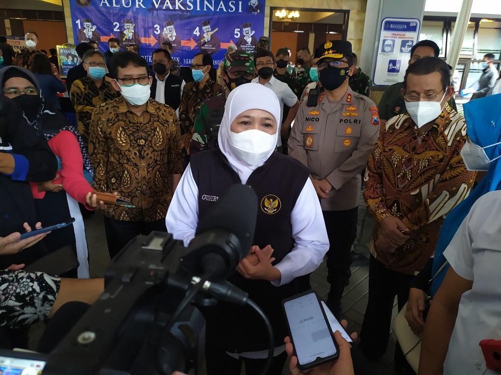Gubernur Jawa Timur, Khofifah Indar Parawansa, di Malang, Sabtu 18 September 2021.