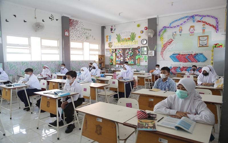 Sejumlah siswa dari SD hingga SMP yang ber-IQ tinggi dikumpulkan dalam kelas khusus di Surabaya (Foto / Istimewa)